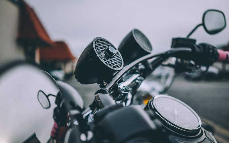 motorcycle handlebar speakers
